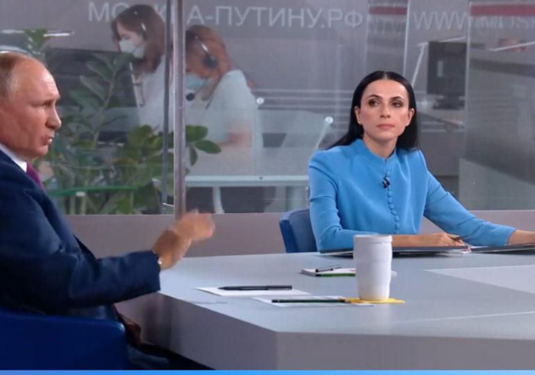 Президент Российской Федерации Владимир Путин в прямом эфире...